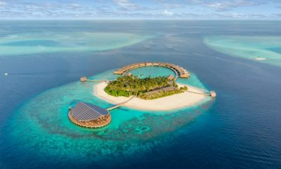 Kudado, hotel, solar panel, Maldives